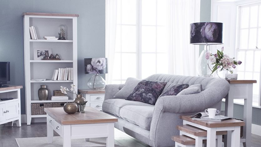 Freshen up this Spring with a shabby chic living room