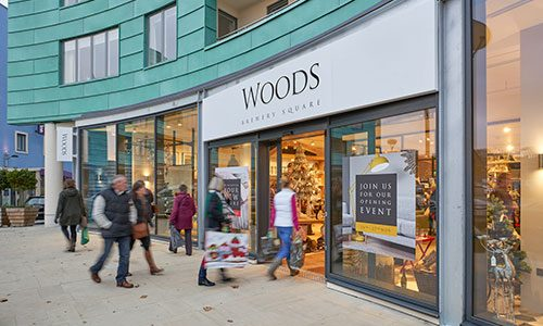 Woods Home Furniture Store Dorchester, Brewery Square 2016