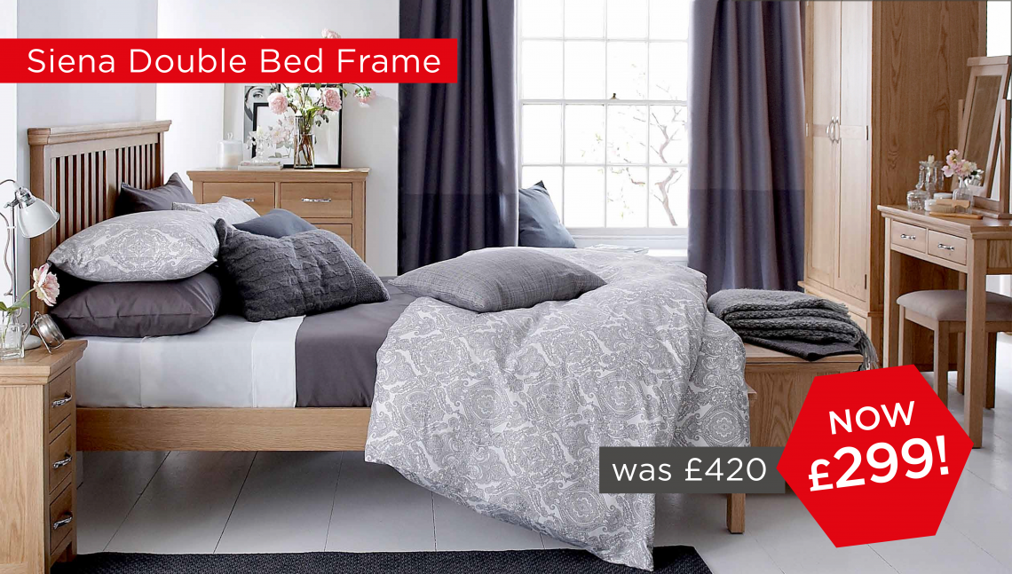 Siena Double Bedframe Now £299!