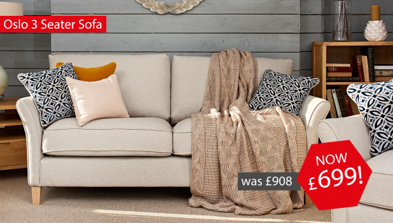 Oslo 3 Seater Sofa Now £699