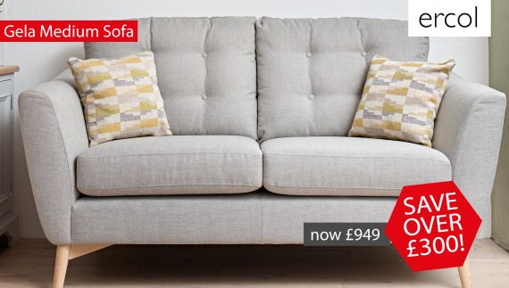 Save over £300 on the ercol Gela Medium Sofa!