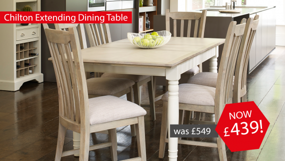 Chilton Extending Dining Table now £439!