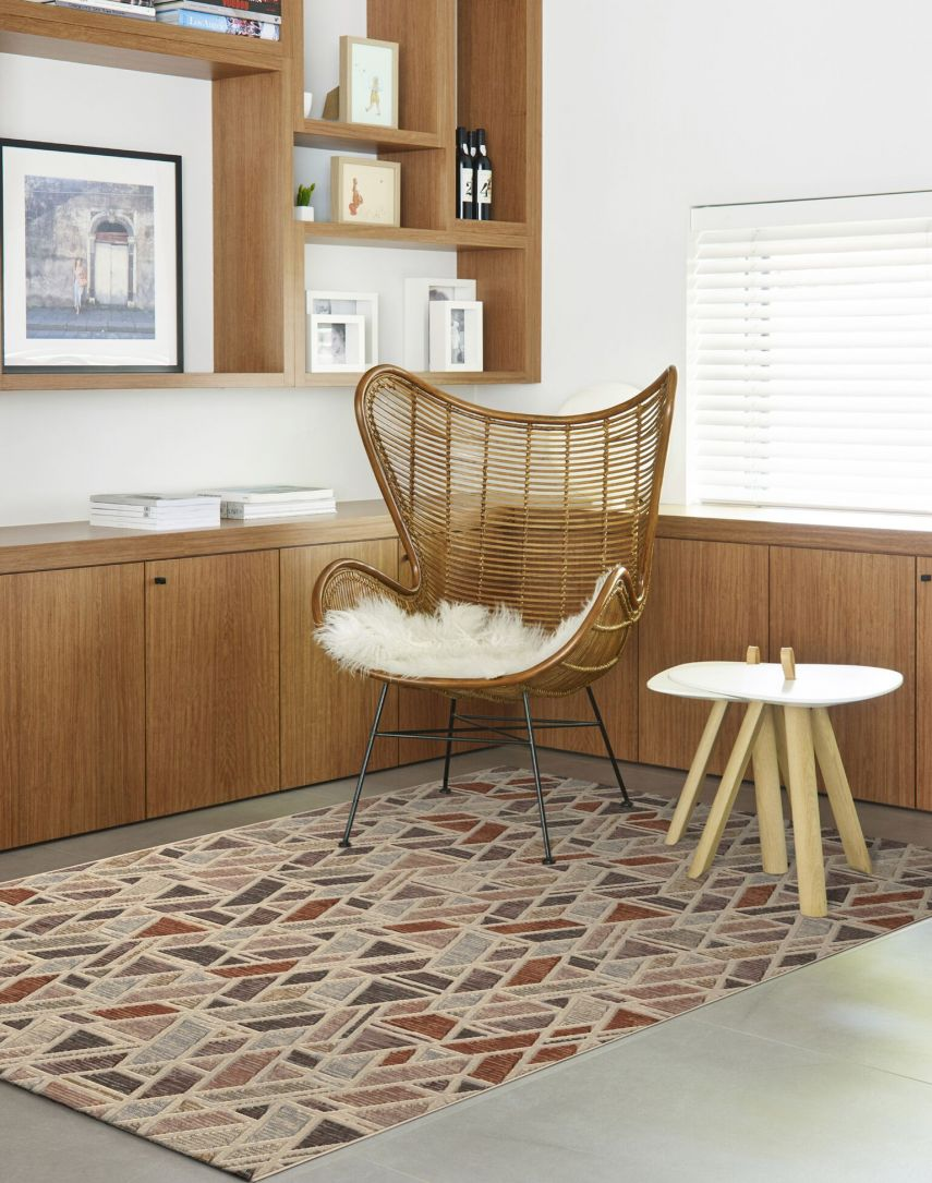Modern interior design with rugs