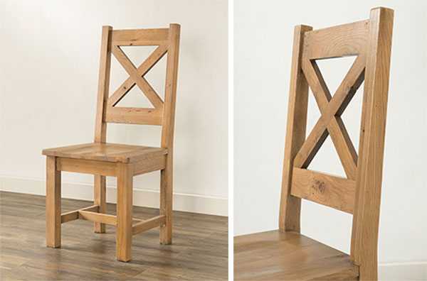 Hinton rustic oak dining chair