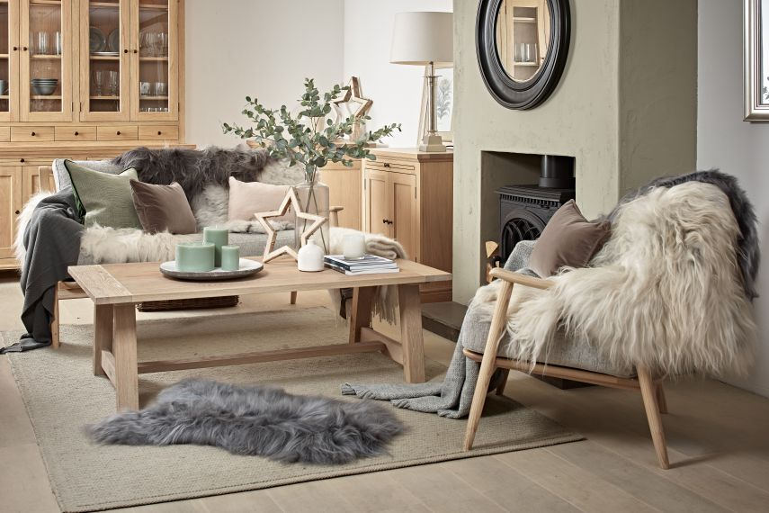 Sheepskin Rugs and Sheepskin Throws for your Living room