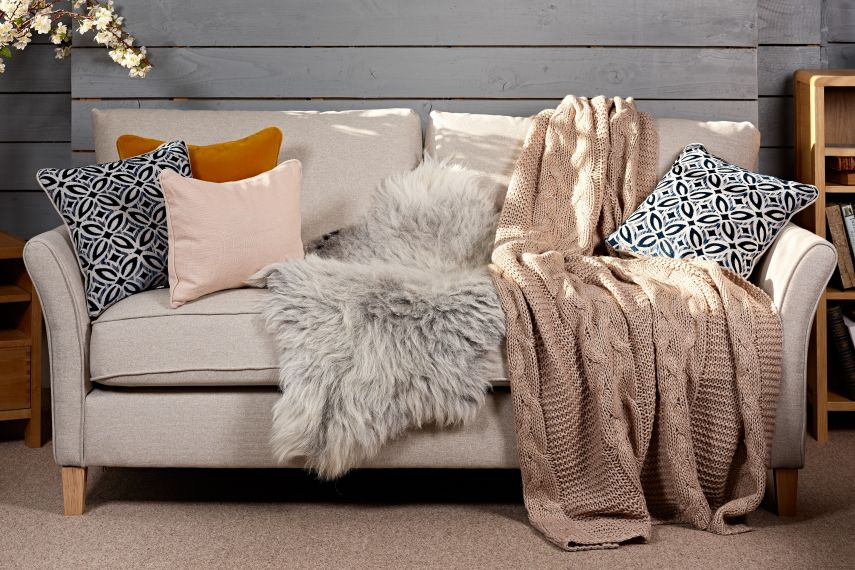 Sheepskin Throw for Sofa