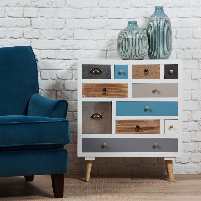 Multi coloured small space living chest